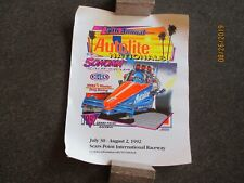 VINTAGE 1992 NHRA NATIONALS POSTER - SEARS POINT RACEWAY - VG - FREE SHIPPING