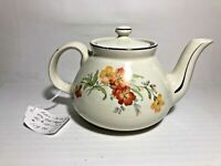 Gorgeous Vintage Hall's Teapot Floral Design EUREKA See Pics! Make Offer!