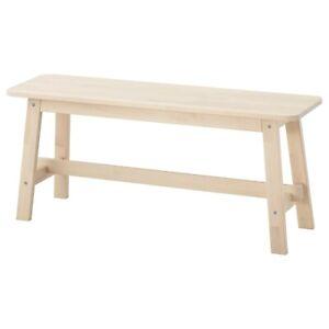 "IKEA NORRÅKER Bench, birch 40 1/2 "" SOLID WOOD BRAND NEW"