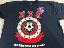 USA Soccer T-Shirt 2014 Brazil Youth 2XL 18/20 Futbol FIFA World Cup Kids Boys