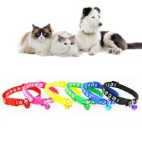 12PCS/Lot Dog Collars Pet Cat Puppy Buckle Nylon Collar with Bell 6-Colors