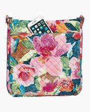 NWT VERA BRADLEY Triple Zip Iconic Hipster Bag Super Bloom Pattern $68 tag