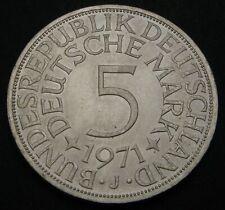 GERMANY (Federal Republic) 5 Mark 1971 J - Silver - aUNC - 604