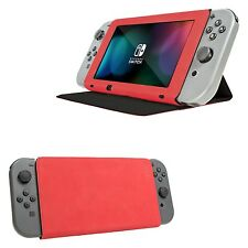 Orzly Stand and Type Case Cover for Nintendo Switch - Red