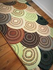 Art theme Knitted Green Rugs / Runners - Anti Slip Latex Back - Floor Mat 120x80