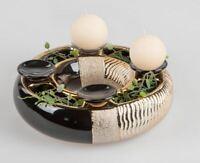 formano Adventskranz Keramik schwarz gold 26 cm Weihnachten 751287