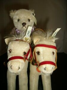 Steiff Golden Age of Circus Bear Back Rider with Two White Horses Limited Ed ID