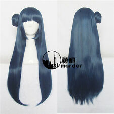 Love Live Sunshine Tsushima Yoshiko Cosplay Party Wig Blue Long Hair