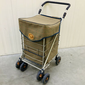 The Genuine Sholley 2000 Foldable Shopping Trolley In Check Tartan Design