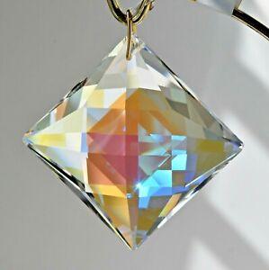 "50mm Square Diamond Clear AB Crystal Pendant Prism Suncatcher 2"""