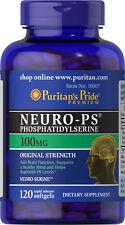 Puritan's Pride Neuro-PS (Phosphatidylserine) 100 mg - 120 Softgels