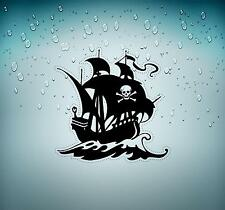 Sticker decal motorcycle car tuning room kids befroom pirates pirate skull r2