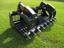 "MTL 84"" X series Rock Grapple Bucket w/teeth skid steer Bobcat -Ship $179"