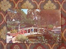 Vintage Postcard Concrete Bamboo Bridge In Sarasota Jungle Gardens, Florida