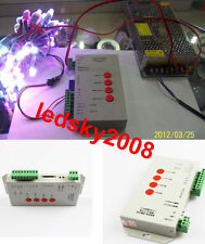 T1000S SD Card LED Pixel Controller 5-24V for WS2812B 6803 WS2811 RGB LED strip