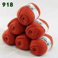 Sale 6balls50g LACE Acrylic Wool Cashmere hand knitting Wrap Yarn Orange Red