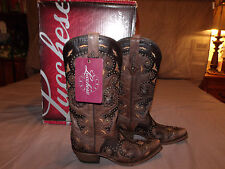 Lucchese Women Boot Stud Scarlette Brn. M5015.S54 Sz. 9.5B & 10.0B