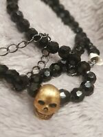 Butler and Wilson  skull on bead necklace new