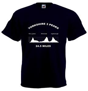 Yorkshire Three Peaks Challenge T-Shirt (3, Ingleborough, Whernside, Dales)