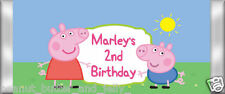 Personalised Peppa Pig Birthday Chocolate Bar Wrapper (only) x 10 wraps ($1 ea)