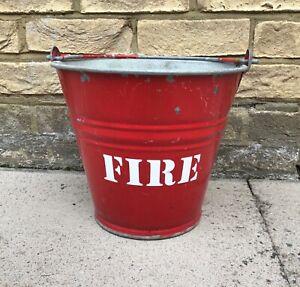 Vintage Metal Fire Bucket