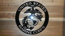 "UNITED STATES MARINE CORPS Metal Sign,16"" Hand Made in Waco Texas"