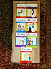 NEW Childrens' CATHOLIC ACTIVITY COLORING BOOKS Set 7 Titles  32 pgs ea #AA NEW