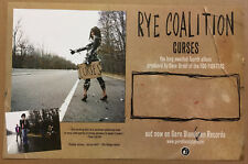 Rye Coalition Rare 2006 Promo Poster of Curses Cd Usa 17x11 Never Displayed