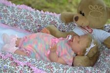 Valya solid soft silicone baby doll created by artist Oxana Lukyanets