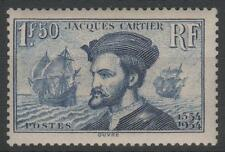 "FRANCE STAMP TIMBRE N°297 "" JACQUES CARTIER BATEAU CANADA 1F50"" NEUF xx TTB K459"