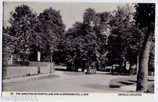 Powys Lane & Alderman's Hill junct., London, England  Enfield Libraries Postcard