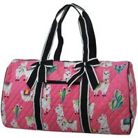 Quilted Duffle Bag NGIL Llama Pink 20' Carry on/Gym/Overnight/Duffle Free Ship