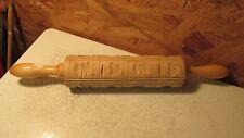 Vintage Springerle Rolling Pin  No. 3