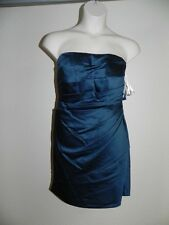 Davids Bridal Dress Plus Size 26 Peacock Strapless Bridesmaid F14212 Prom NWT