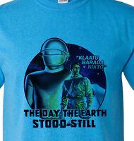 The Day The Earth Stood Still Gort vintage Sci Fi movie Klaatu blue Distressed