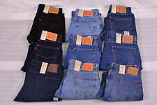 Para Hombre Levi's 505 Regular Fit Straight Leg Jeans-Elige Color Y Talla