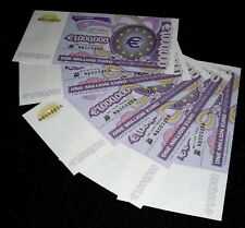 5-PIECE LOT 1,000,000 EUROS NAPLES BANK NOTE COMPANY ENGRAVED FANTASY ART  BILLS