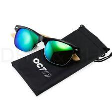 Occhiali da sole da uomo con montatura in verde quadrato 100% UV