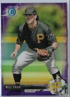 2017 Bowman Draft Purple Refractor Parallel Will Craig Pittsburgh Pirates 2/250