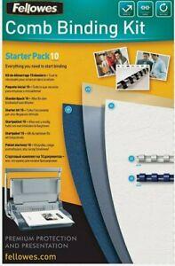 Fellowes Comb Binding Starter Kit 10 - Pack of 10. Premium Protection