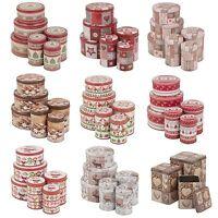 Christmas Theme Biscuit Tin Coffee Tea Jar Set Of 3 Storage Kitchen Dry Food