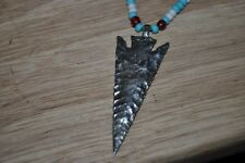 arrowheads artifacts Fraser river big game point pendant and trade beads