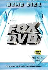 Fox Dvd Demo Disc Ice Age Planet Of Apes Moulin Rouge ( Dvd )