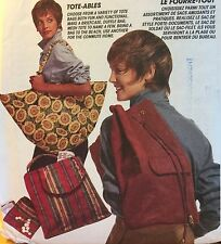 1993 'MC CALL'S' FASHION ACCESSORIES TOTES & BAGS PATTERN 6877ONE SIZE