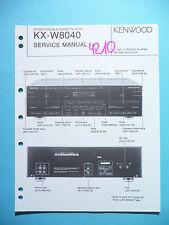 Instrucciones Manual de servicio para Kenwood kx-w8040, original