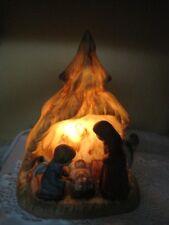 Vintage Electric Light Ceramic Angel Nativity Christmas Baby Jesus