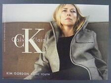 Kim Gordon Sonic Youth Calvin Klein CK Promotional Promo Advertising Postcard