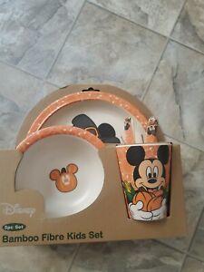 Disney Mickey Mouse Halloween Fall 5pc Reusable Bamboo Kids Dish Set