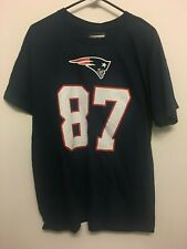 NWT Rob Gronkowski #87 New England Patriots Mens Football Cotton T-Shirt