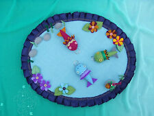Traditional childrens fishing pool and rod